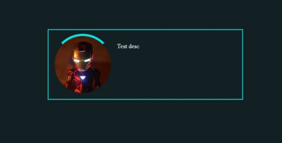 Screenshot of Iron Man's rounded image surrounded with an arc covering it