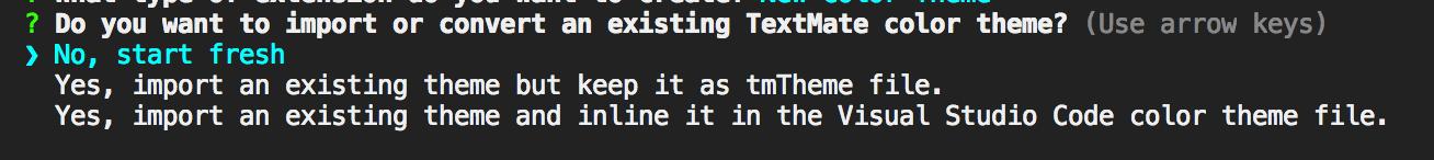 beginning prompt in terminal