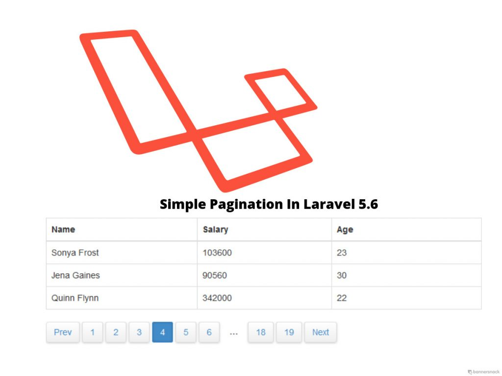 Pagination in Laravel 5.6