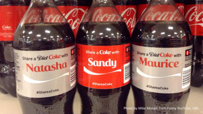 For Coke's Share a Coke campaign they printed the names of many different people on their bottles.