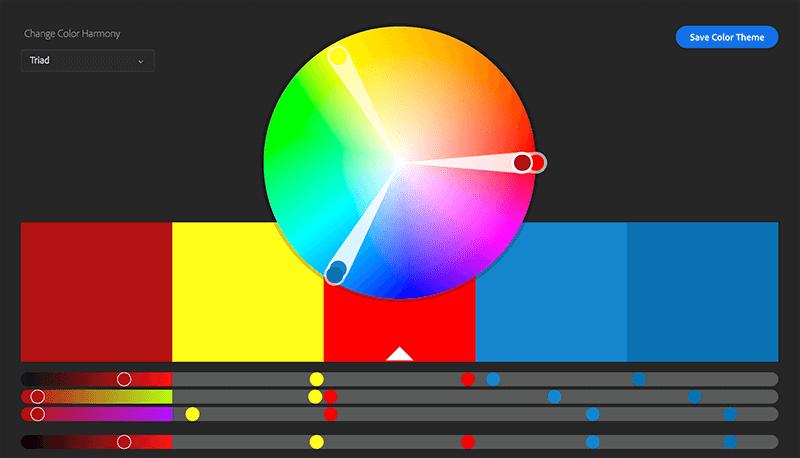 triad color palette