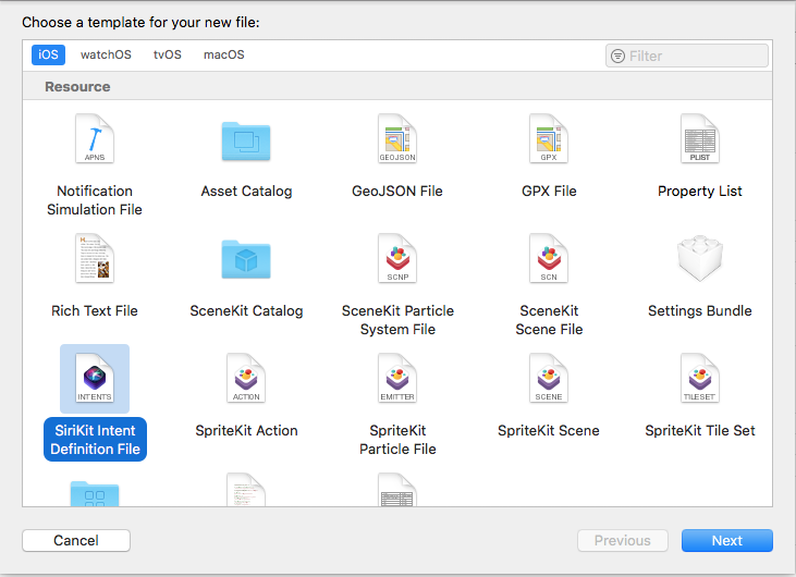 A screen shot of the New File dialog