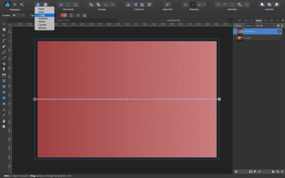 """Select """"Linear"""" from the Fill tool's contextual menu."""