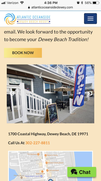 "The ""Book Now"" button appears a number of times throughout the Atlantic Oceanside website."