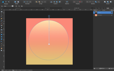 Transparency applied to the sun shape