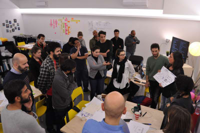 Students presented their projects and shared their results with the group.