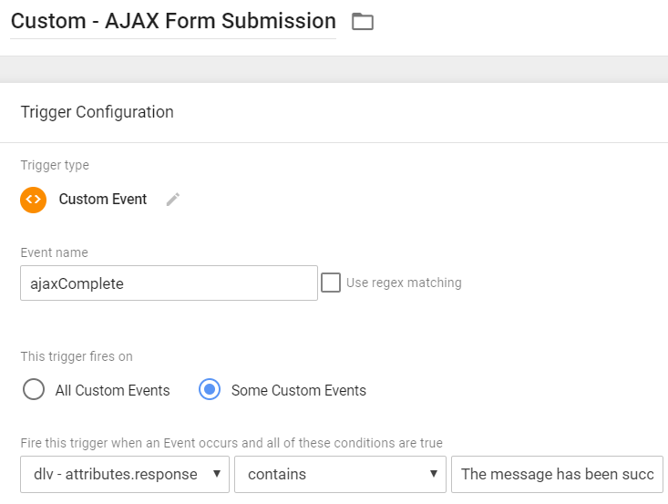 Custom Trigger - Ajax Complete Form Submission