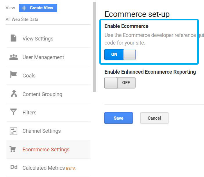 Enable Ecommerce Reports 2