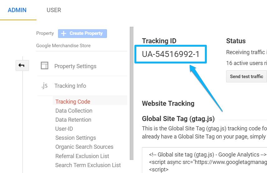 GA Tracking ID