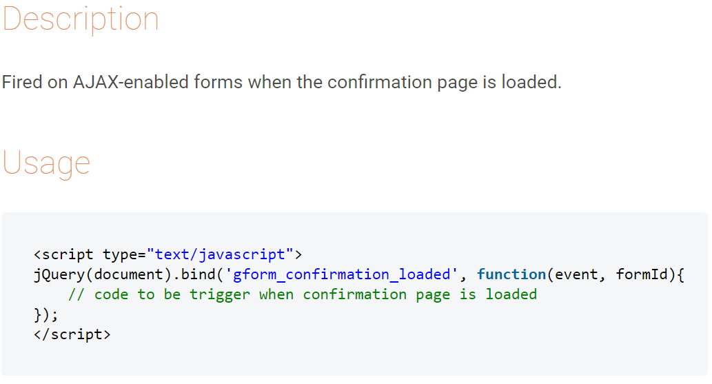 gform_confirmation_loaded javascript snippet