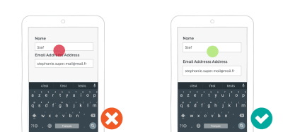 On mobile, respect mobile touch-optimized best practices, and make sure inputs are big enough to be easily tappable.