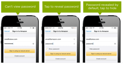 Showing Passwords on Log-In Screens by Luke Wroblewski (2015)