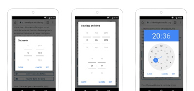 Example of date-picker with more options on Android