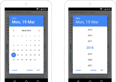With Android's date-picker, even though you can press and hold the year to get a year-picker, picking a birth date is still tedious.