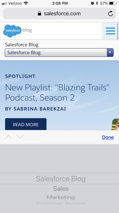 Salesforce has informative blog navigation