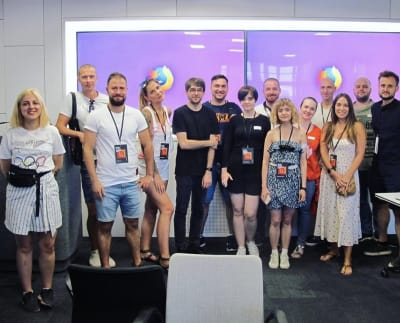 Ukrainian students visiting design agencies in Berlin.