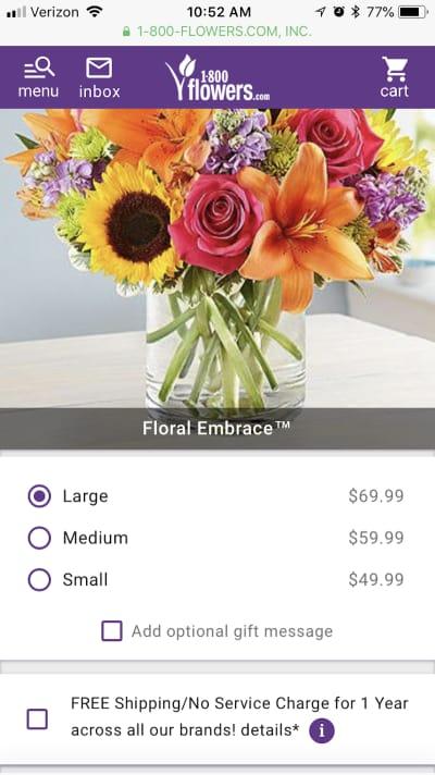 1-800-Flowers ordering