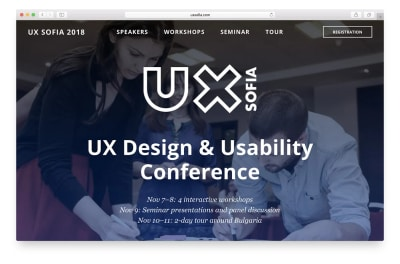 UX Sofia 2018 front page