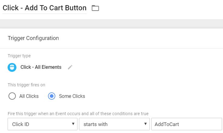 Click Trigger - Add to cart button