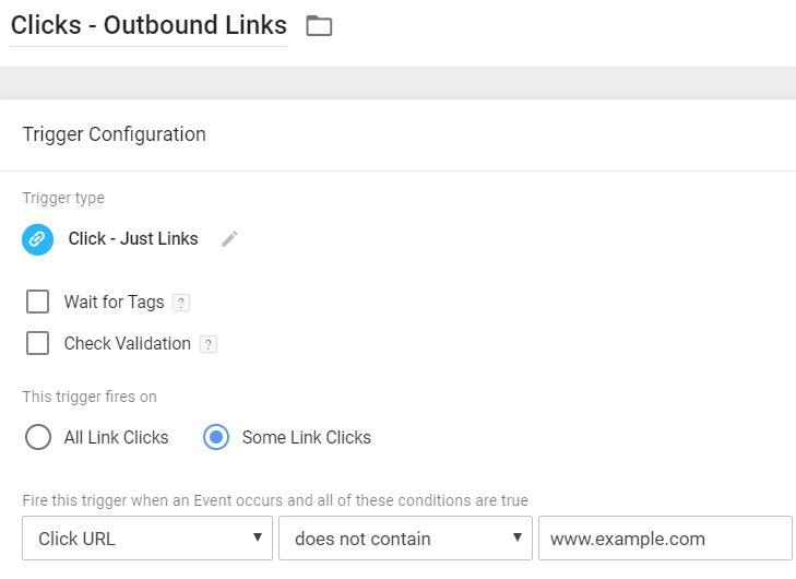 Outbound link click trigger