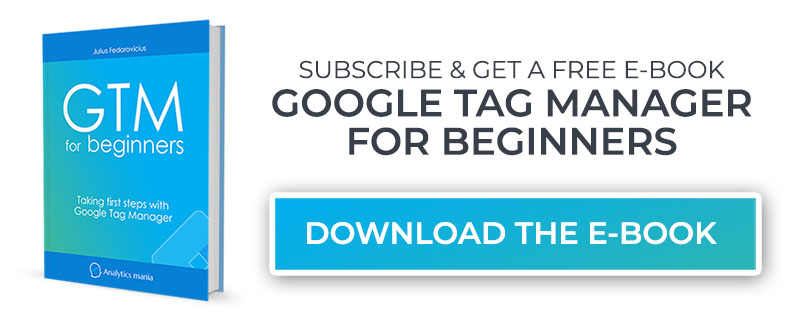 Subscribe and Get the Ebook - Real Book Img - GTM for Beginners