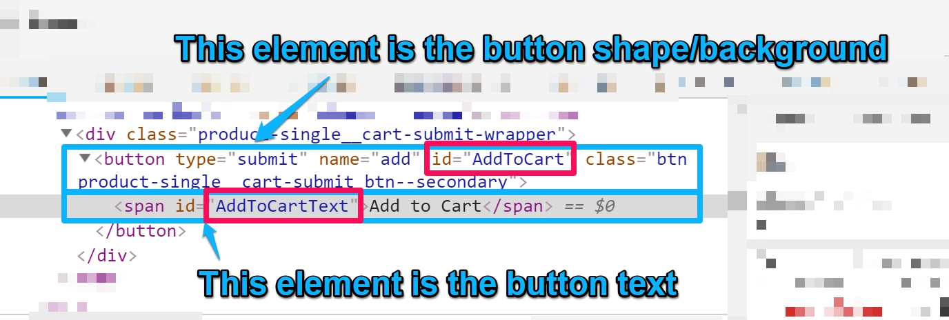 Two elements in one button