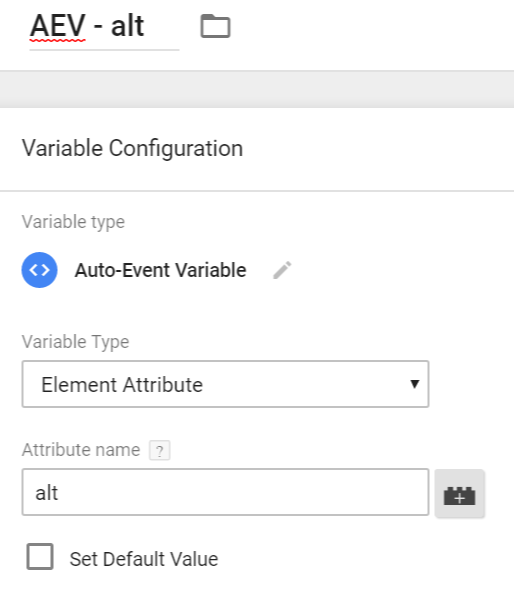auto event variable - alt