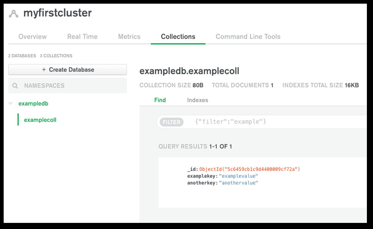 Creating a MongoDB Atlas database