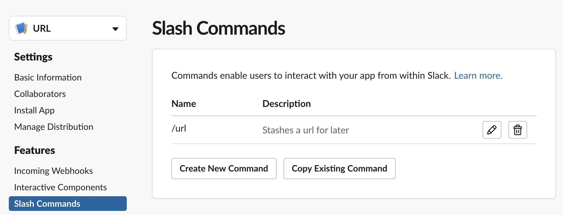 Creatuing a Slash command