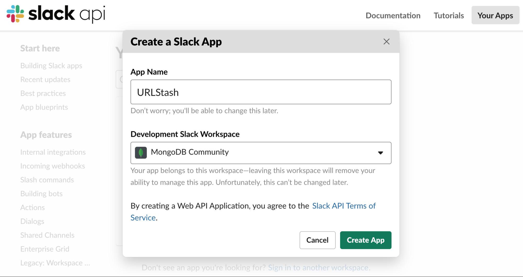 Creating a Slack Application