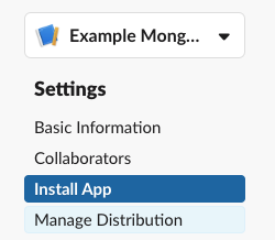 Installing the Slack app