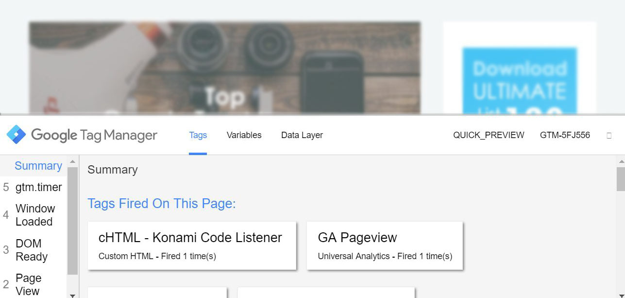 check if Google Tag Manager is Working